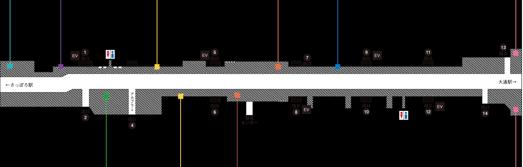 札幌駅前通地下歩行空間チ・カ・ホ - 札幌デザインウィーク - 開催イベントマップ